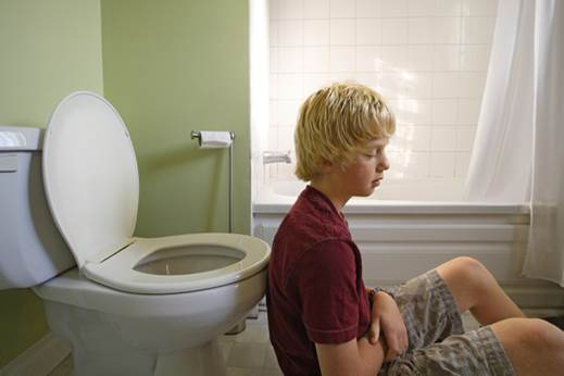 Diarrhea can be a symptom of flu.