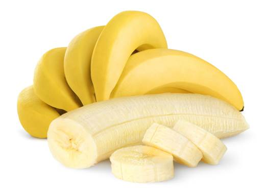 A small banana contains an equal amount of calories, carbohydrate and fiber to an apple.