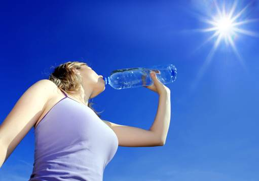 You should drink a big glass of water (about 300ml) 30 minutes before taking physical activities.
