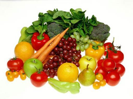 You should eat vegetables and fruits to adapt demand about vitamin and fiber for people's body.