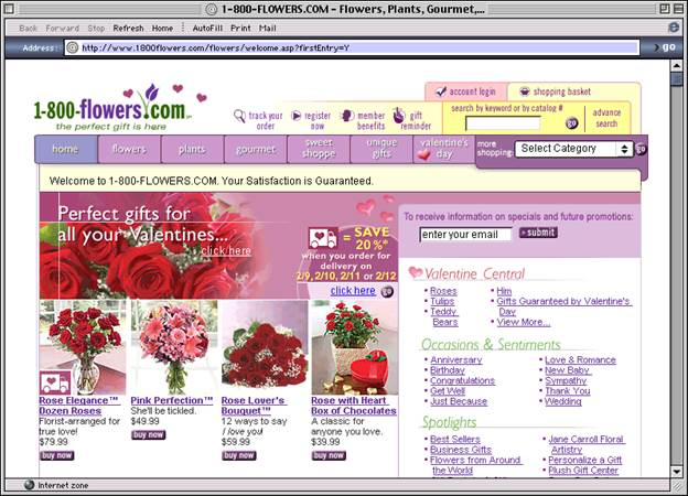 1800 Flowers site