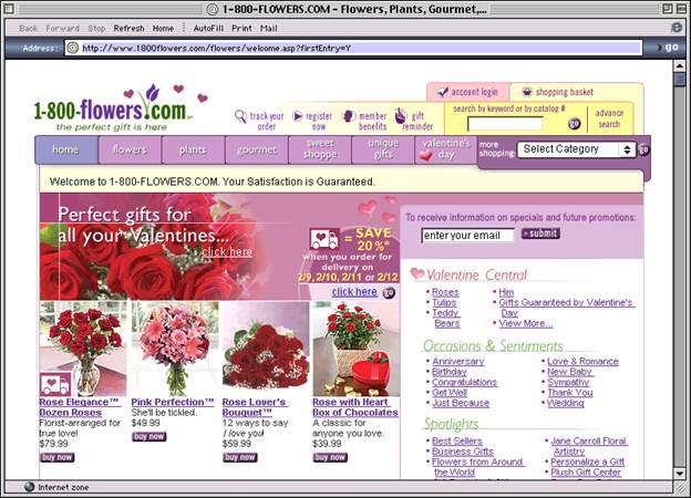 1800 Flowers site