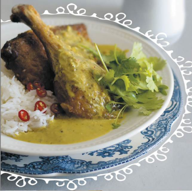 Thai tamarind duck curry