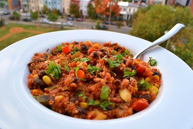 Black Bean And Quinoa Chilli