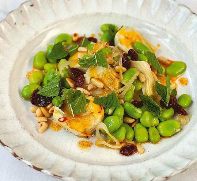 Sicilian artichoke and broad bean salad