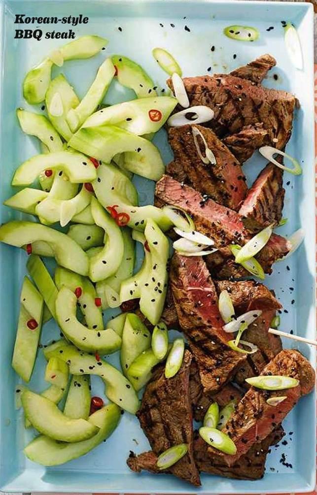 Korean-style BBQ steak