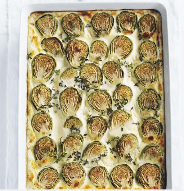 Brussels sprouts and ricotta gratin