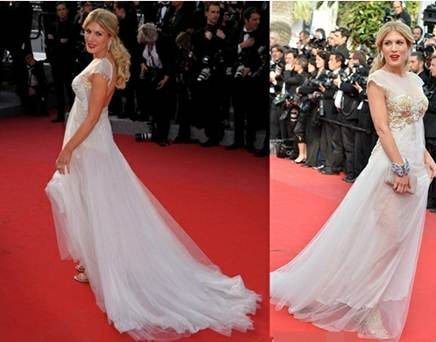 Description: Stars in white dresses are still full of charisma on the red carpet