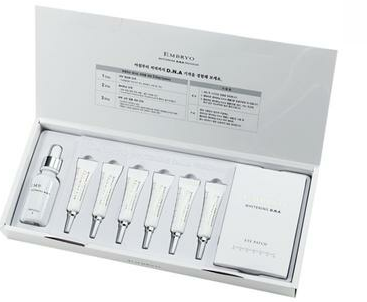 Description: Recommended product: Embryo Whitening D.N.A burnt skin removal set helping recover skin after 7 days