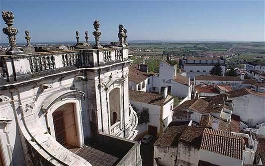Description: The rooftops of Evora in the Portugal's Alentejo region