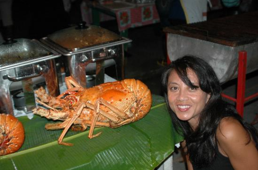 Description: Lobsters at Anse La Raye Fish Fry - Anse La Raye