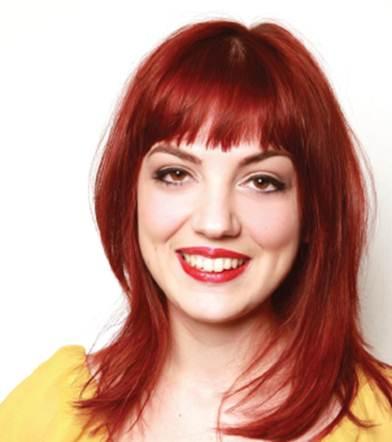 Description: I've chosen a vibrant red tone for Laura