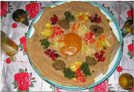 Description: Ethiopians love injera. Injera is eaten with almost every meal