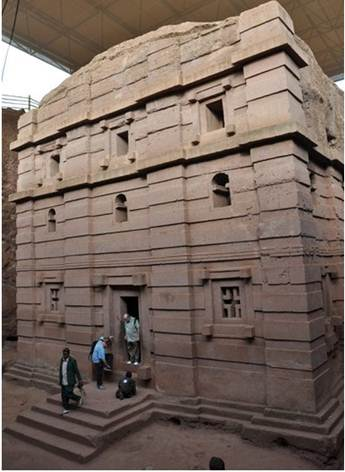 Description: a UNESCO World Heritage Site, is the 11 rock-hewn churches at Lalibela