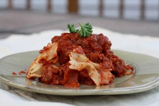 Description: Extra-meaty Bolognese