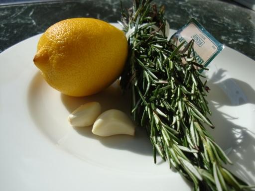 Description: Lemon, garlic and rosemary rub