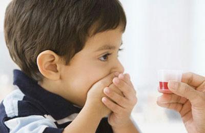 Description: Remember to let babies sit when giving them medicine.
