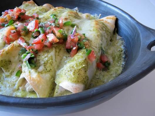 Description: Chicken enchiladas With Tomatillo Sauce