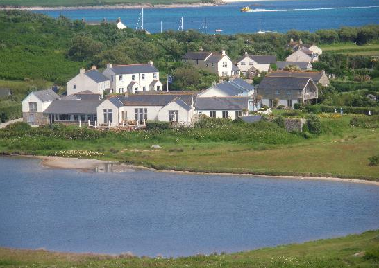 Description: The Hell Bay Hotel on the island of Bryher