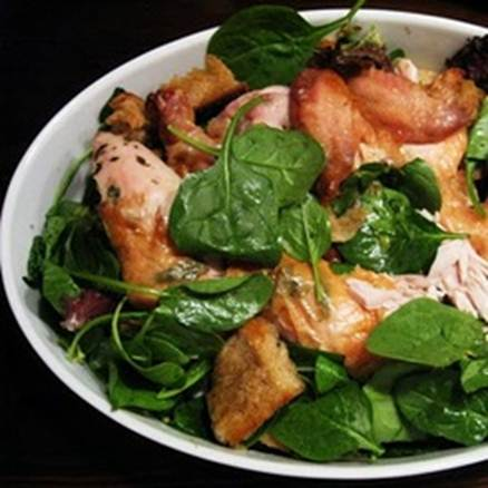 Description: Roasted Chicken with Tuscan salad