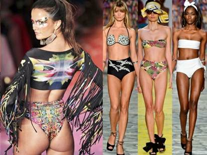 Description: The retro trend is outstanding with high-hem knickers and classically feminine close styles.