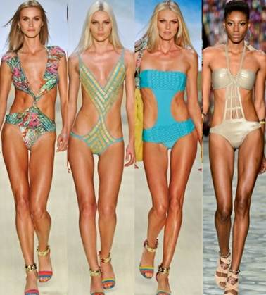 Description: Monokini is a combination between the one-piece swimsuit's classical femininity and bikini's burning attractiveness.