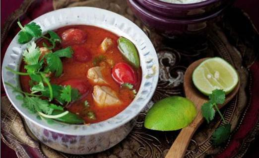 Description: Thai-style red chicken curry