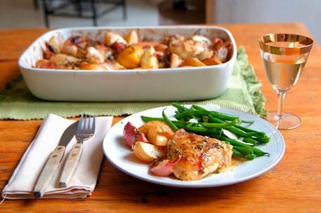 Description: Lemon and thyme chicken casserole