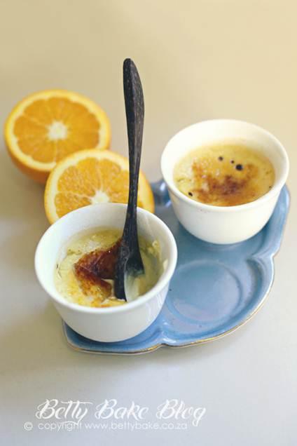 Description: Orange and honey crème brûlée