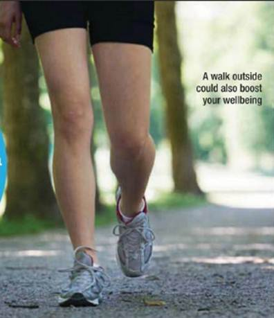 Description: A walk outside could also boost your wellbeing