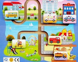 Description: Kids learn traffic
