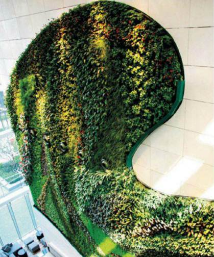 Description: The vertical garden at Hotel ICON