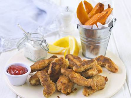 Description: Description: Chicken Goujons with Basil Dipping Sauce