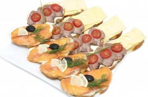 Description: Description: Salmon Sandwich Stacks