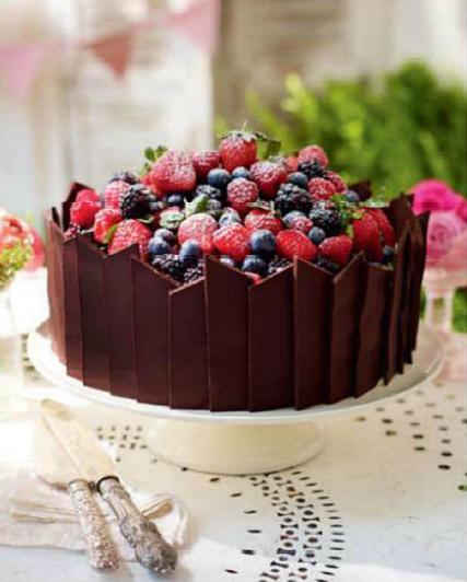 Description: Description: Chocolate and Fruit Decoration