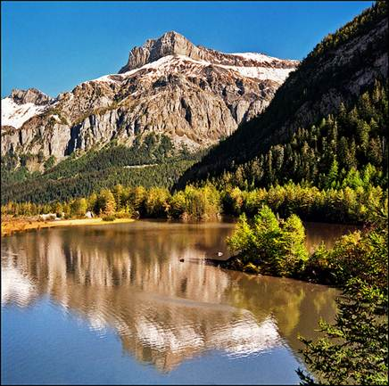 Description: Derborence Lake in Canton Valais, a protected area and a paradise for walkers