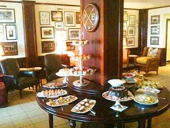 """Description: Description: Tea in the """"Polo Lounge"""""""