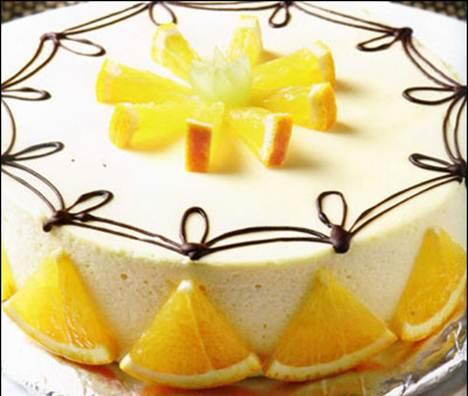 Description: Decorate with orange slices.
