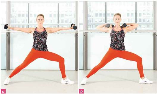 2. Warrior two biceps curl