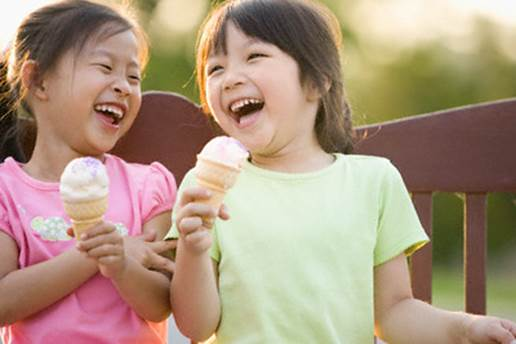 You shouldn't let children eat a lot of ice-cream.