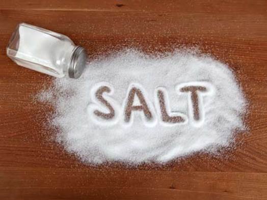 Salt will make body keep water and make blood pressure increase.