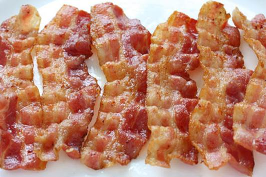Middle-aged people should avoid bacon.