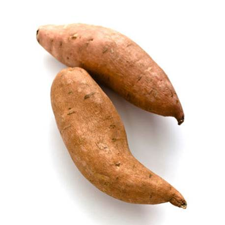 Sweat potato helps adjust the concentration of sugar in blood.