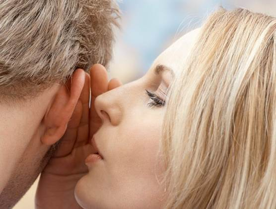 Swat your spouse's butt with a dish-towel, whisper in his ear, or give him a lingering kiss when he comes home.