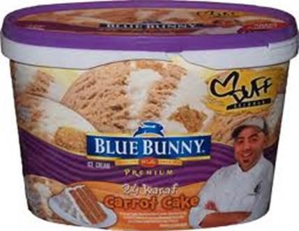 Blue bunny 24 karat carrot cake