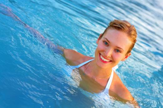Swimming in a long time is harmful to skin and hair.