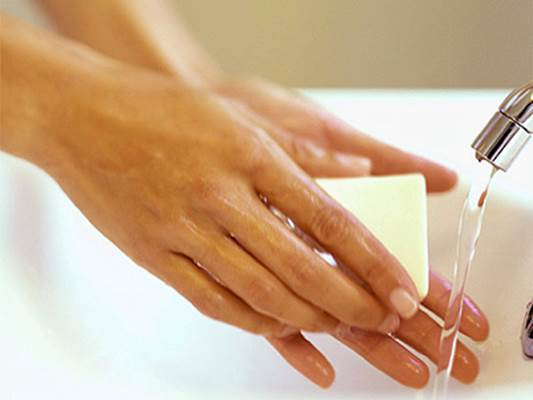 You should wash hands regularly with soap.