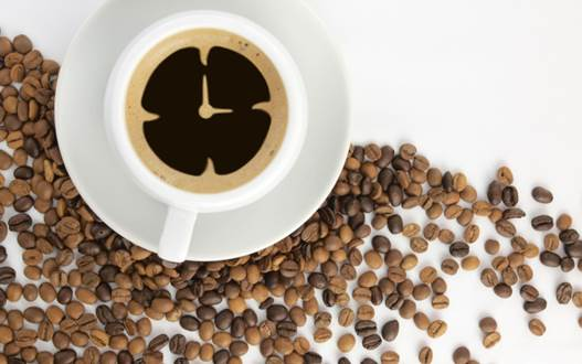 Caffeine in coffee can stimulate the central nervous system of the brain.