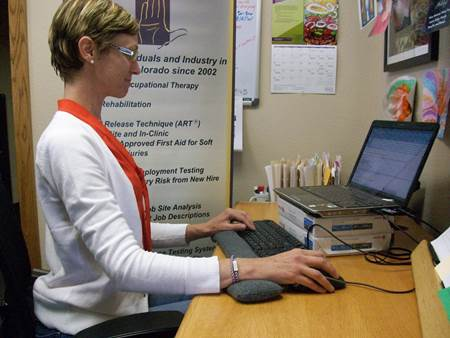 When using a laptop, you should prepare yourself an external keyboard as it will keep your wrists in the right posture.