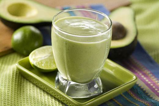 Avocado smoothie is delicious and rich in folic acid.
